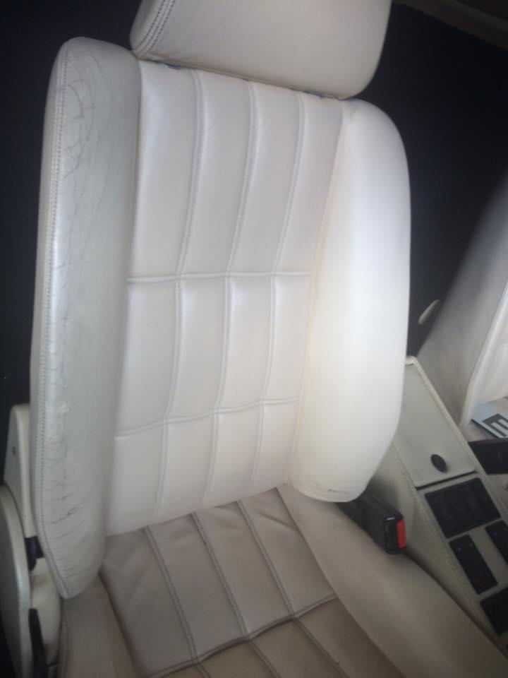 Ferrari leather seat repair - Before