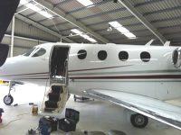 jet aeroplane leather seat repair