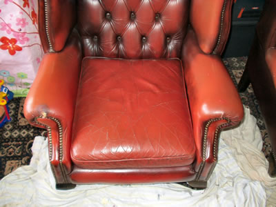 Leather Seat Repair - Before2