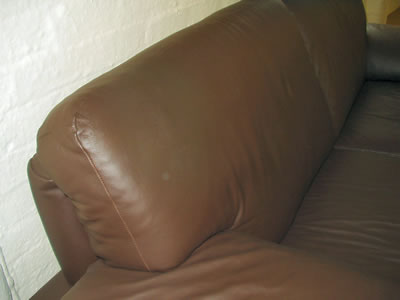 Leather Settee Repair - After
