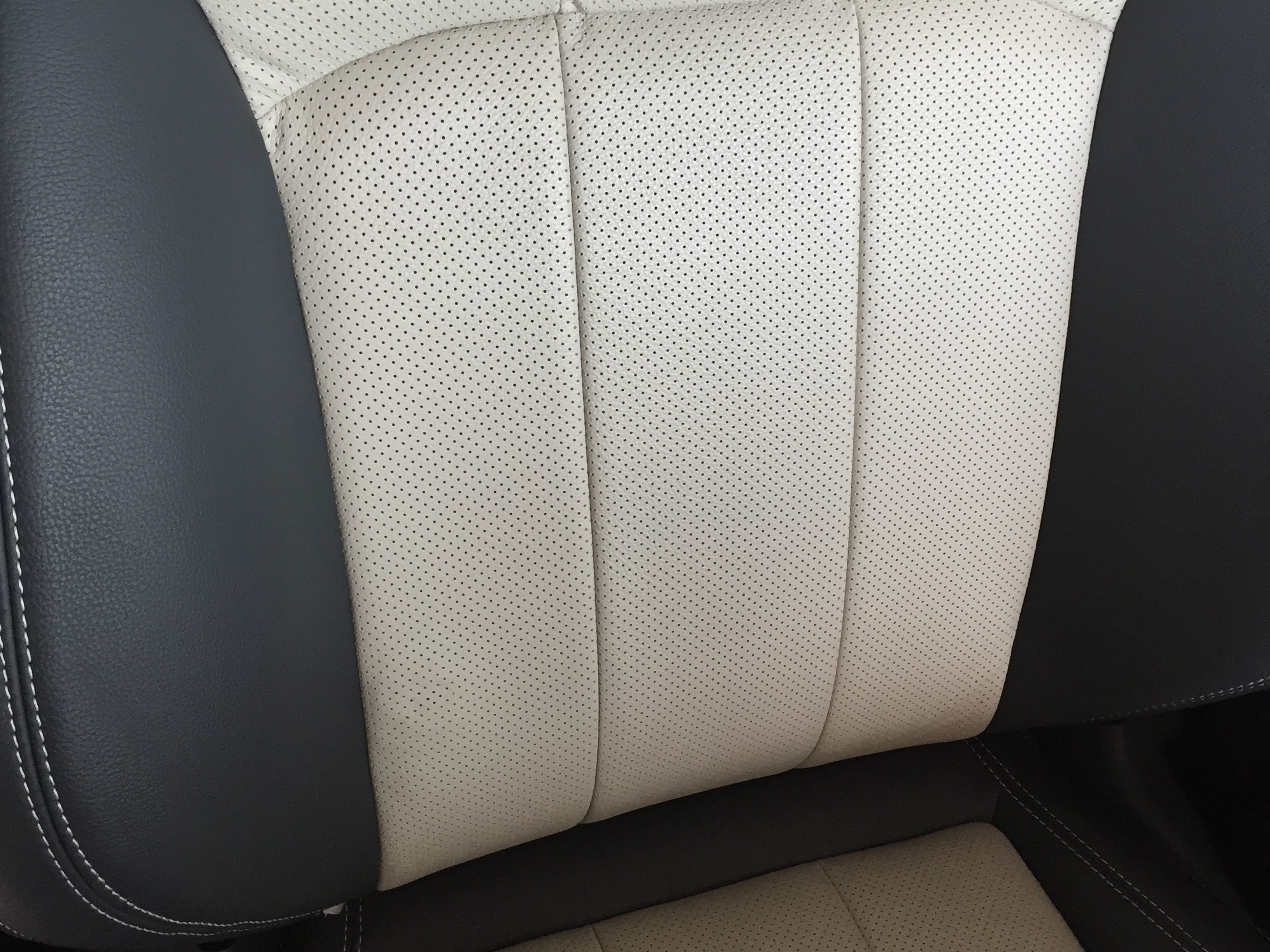 6 month old-Range Rover Evoque leather damage after (Close up)