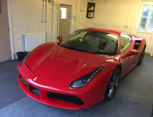 This is a bolster repair to a Ferrari 488 GTB