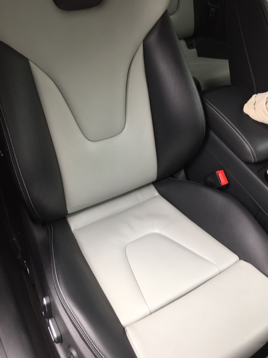 Vandal Damaged Leather in Audi S5 - Fully Restored