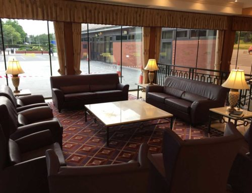 Commercial Leather Seating Restored