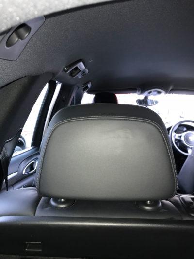 Car headrest damage repaired on Porsche Cayenne
