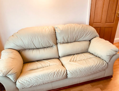Leather sofa restored from £100
